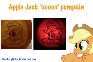 Apple-Jack-O-Lantern (aj ooooo pumpkin) by BlueAcrylicFox