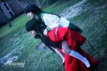 Human Inuyasha and Kagome by VariaK