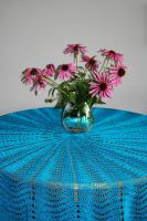 turquoise tablecloth by basia-hs