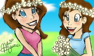 Two Summer Daisies by Dakotaa
