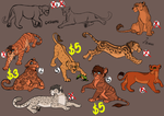 Hybrid Feline Adoptables Only 1 left ON SALE by Ronaai