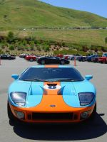 GULF Ford GT Ferrari backdrop by Partywave