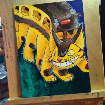 Catbus painted by Fwa-tair