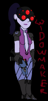 Widowmaker Outline by DoubleVisions2016