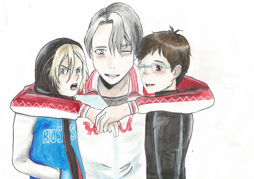 Yuri!!! On Ice - Yurio, Viktor and Yuuri by Moro14