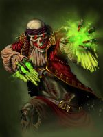 Lich Pirate Character Art by deep-wulf