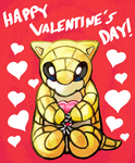 Valentine Sandshrew by Tropiking