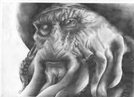 davy jones shaded drawing by gill1995