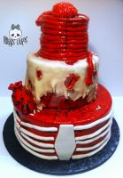 Halloween Human Gore Cake by Corpse-Queen