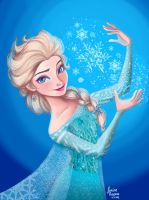 Queen Elsa by jillustrates