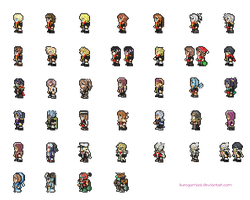 Final Fantasy Type-0 SNES sprites by natsumoka