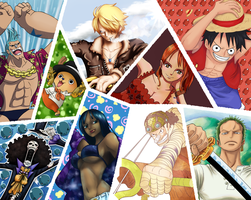 FIRST ONE PIECE COLORING COLLAB group 1 by AnnaHiwatari