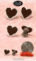 Heart Cookie Studs by chat-noir
