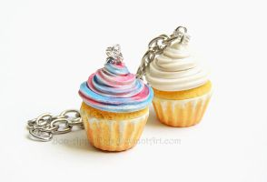 Commission - Custom Cupcake Bracelet by Bon-AppetEats