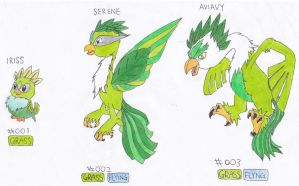 Grass Starters #001-003 by Sept-creature