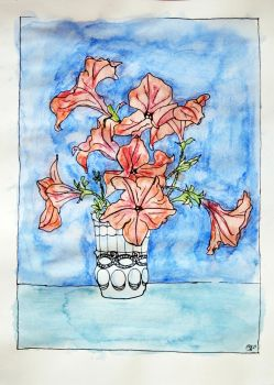 petunia bouquet by surrealexpressionism