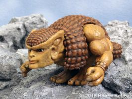 3D printed character Glyptodor A by hauke3000
