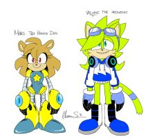 [Sonic OCs] Mars And Volume by Shinkumancer