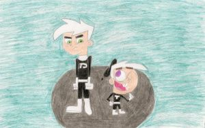 Danny Phantom and Timmy Terror by SOLmaster11