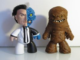 Two-Face+Clayface by MarcioLobo