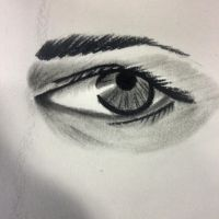 Eye/ Charcoal by Artistinmotion22