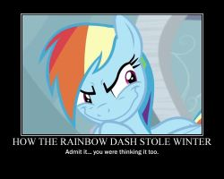 Rainbow Dash Motivational by CrossoverPrincess