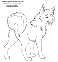 adult Dog Outline by RukiFox