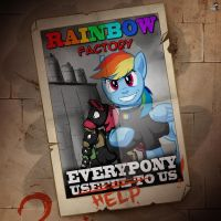 Rainbow factory propaganda poster by DOOM1945