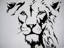 Lion face ink by Uncorrupted