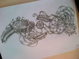 Dreamcatcher tattoo design (attrappe reve) by tattoosuzette