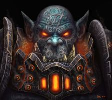 Orc Warchief Blackhand - Warcraft by JoeDomani