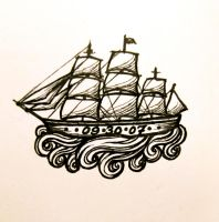 Ship Tattoo by AubreesPassions
