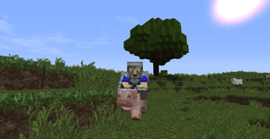 Riding a pig off to battle by tacomaster23