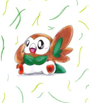 #722. Rowlet by Nid-7th-Generation