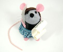 Penny the Calligrapher Mouse by The-House-of-Mouse