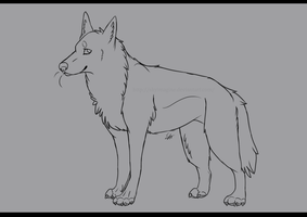 Free Wolf Lineart by Squishy-Pirate-Mutt