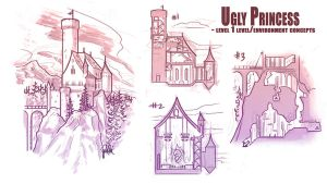 Ugly Princess Lvl Concepts by peach-mork