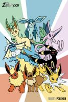 FANART: Eeveelutions by ZiBaricon