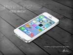 iPhone5 and iOS7, 100% vector by WilDchilDD
