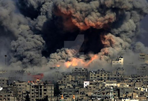 Gaza today, done by the assassin Israel by P4ssion4t3