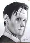 Matt Smith Doctor Who Portrait by AnthonyParenti