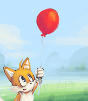 Sonic- Tails Fly High .ROUGH by everynewmoon