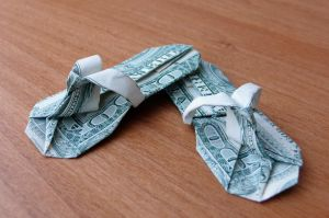 Dollar Bill Flip Flops by craigfoldsfives