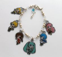 Vocaloid Charm Bracelet by ShishoDesigns