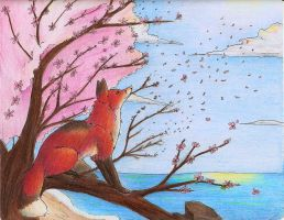 Blossoms in the Wind by Joava