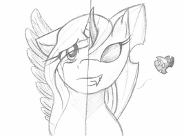 Sketch and Changeling by lupie1324