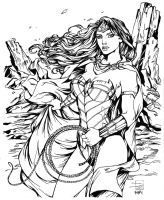 Sabine Rich Wonder Woman Inks by SupermanOfToday