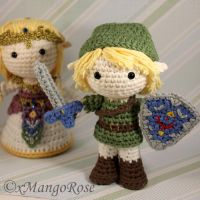 Amigurumi Link from Legend of Zelda by xMangoRose