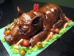 Suckling Pig Cake by Sliceofcake
