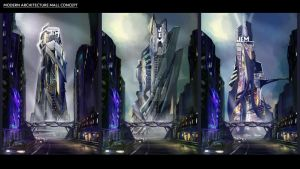 Modern Architecture Mall Concept by fercastz